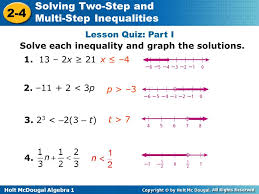 lesson 2 3 solving two step and multistep equations answers