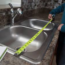 measure the old sink for an exact replacement