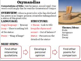 ozymandias poems