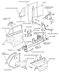 8 exploded view of rear door embly 1988 91 sedan