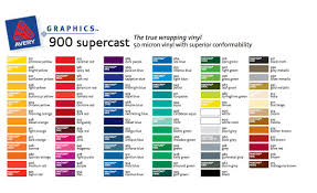 Avery 900 Supercast Colour Chart Avery 900 Supercast