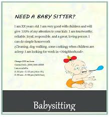 Sample Babysitting Flyer Babysitting Flyer Template Poster Meaning In Computer Moon Veoverde Co