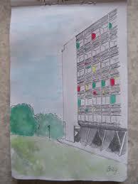 Cité Radieuse Par Le Corbusier à Briey Some Drawings Ive Made