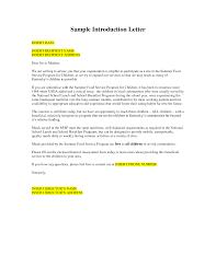 Professional Business Introduction Letter Template Letter Idea 2018
