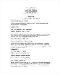 Pipefitter Helper Resume Sample Free Resume