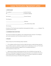 Lease Termination Agreement Letter By Elfir61807 Cover Latter