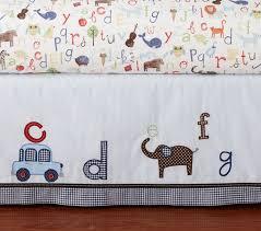 animal alphabet baby bedding set pottery barn kids