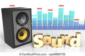 sound system clipart. 3d \u0027sound\u0027 sign sound system - csp49880739 clipart o