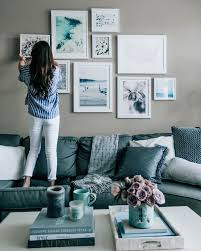 Blue gray living room Powder Blue Blue Grey Living Room Decor Pretty In The Pines Lifestyle Blog Gallery Wall Blue Empleosena Enchanting Blue And Grey Living Room Ideas Citiesofmyusacom