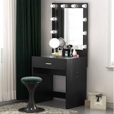makeup vanity with lighted mirror dressing table dresser desk for bedroom stool not included free today 25628566