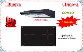 Combo bếp từ Binova BI-407-ID và máy hút mùi Binova BI-23-B-07