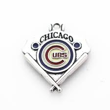wedding whole 12pcs silver enamel pendant chicago cubs mlb diy softball bracelets