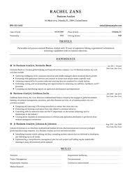 12x Business Analyst Resume Samples Resumeviking In Resume