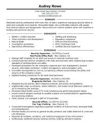 Beautiful No Experience Security Guard Jobs Resume Objective Crafty