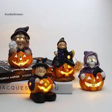 Mô hình bí ngô phát sáng để bàn có đèn LED dùng trang trí tiệc Halloween,  giá chỉ 59,295đ! Mua ngay kẻo hết!