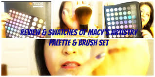 review swatches of macy s artistry palette and brush set