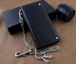 new real leather mens biker card money long wallet purse w key chain nice wallets custom leather wallets from wearbag 36 96 dhgate com