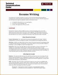 What To Write As An Objective For A Resume How To Write An Objective For A Resume Example Of Objective For 1