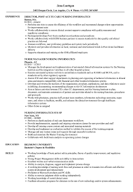 sample clinical nurse specialist resume nursing informatics resume samples velvet jobs