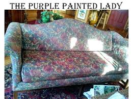 spray paint leather couch the purple painted lady painting a sofa chalk fabric before after how