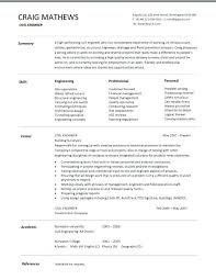 Technical Resume Template Mesmerizing Resume Templates For Engineers Sensational Engineering Resume