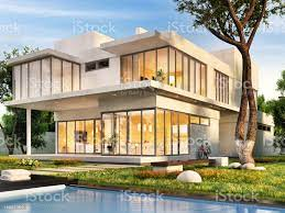 The Dream House With Swimming Pool Stock Photo - Download Image Now - iStock