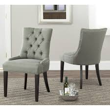 nailhead dining chairs dining room. Safavieh Marseille Grey Linen Nailhead Dining Chairs (Set Of 2) - Overstock™ Shopping Room G