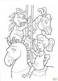 Small Picture Emmy dragon and carousel coloring page Free Printable Coloring