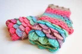 Dragon Scale Fingerless Gloves Pattern Free Amazing Design Inspiration