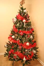 christmas trees decorated with red ribbon. Beautiful Ribbon Red Christmas Tree Decorations And Ribbons In Trees Decorated With Ribbon W