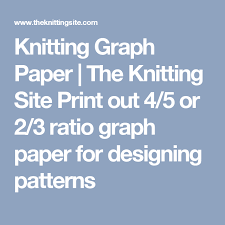 Knitting Graph Paper The Knitting Site Print Out 4 5 Or 2 3 Ratio