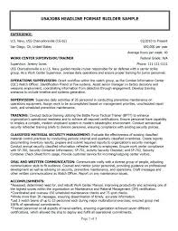 Military Resumes For Civilian Jobs Infantry Resume Examples Military ...