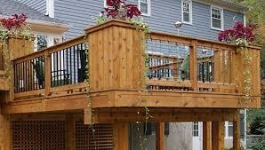 mixed metal glass builtup wood corner post railing deck corner post o63