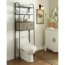 Impressing Over The Toilet Storage Bathroom Cabinets Home Depot At