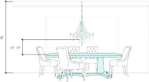 chandelier height from dining table dining standard height of chandelier over dining room table chandelier height