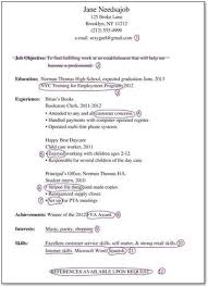 Resume For Teens Mesmerizing Gallery Of Resume For Teens With No Experience Sales No Experience