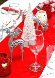 red and silver table decorations. Silver Table Decorations Amazing Red And Fir Trees Adorning A