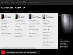 Adobe Creative Suite Comparison Chart Adobe Creative Suite Dynamic Comparison Chart Curioux Blog
