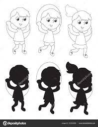 Immagini Bambini Che Saltano Da Colorare Bambini Che Saltano La