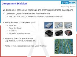 a capability presentation ppt wide range of connectors terminals and other wiring harness plastic parts