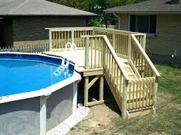 8 foot deep above ground pool above ground pool top rails ideas on a budget deck