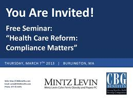 seminar invitation invitation health care reform seminar from cbg benefits