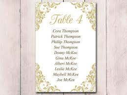 wedding table cards template