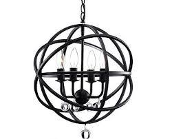 antique bronze orb globe crystal chandelier cage metal industrial rustic light n