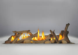 driftwood a kit logs and six river rocks included for gas fireplaces