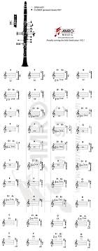 Printable Clarinet Finger Chart Clarinet Fingering Chart To Print