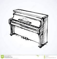 Grand Piano Music Light Vector Drawing Of Grand Piano Stock Vector Illustration Of