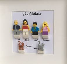 lego family personalised minifigures frame
