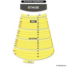 Experienced Red Rocks Seating Chart With Numbers 16 New Msg