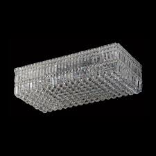 large rectangular k9 crystal ceiling fitting